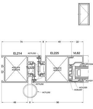 Okenno - dverný systém Econoline