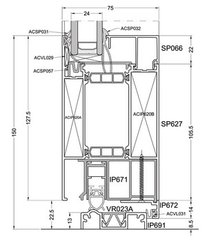 Okenno - dverný systém Superial